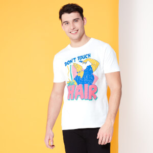 Cartoon Network Spin-Off Johnny Bravo Don't Touch The Hair T-Shirt - White