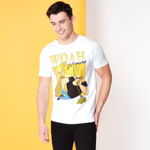 Cartoon Network Spin-Off Johnny Bravo 90's Photoshoot T-Shirt - White