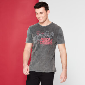 Transformers Peace Through Tyranny T-Shirt - Black Acid Wash