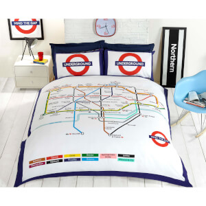 Rapport London Underground Bettdecke-Set – Multi