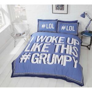 Rapport I Woke Up Grumpy Duvet Set - Blue