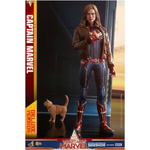 Figurine articulée MM Captain Marvel, inspirée du film Captain Marvel, version deluxe, échelle 1:6 (29 cm) – Hot Toys