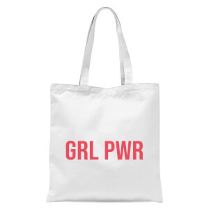 GRL PWR Tote Bag - White