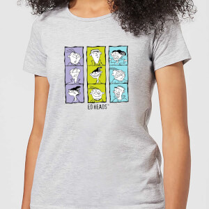 Ed, Edd n Eddy Heads Women's T-Shirt - Grey