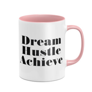 Dream Hustle Achieve Mug - White/Pink