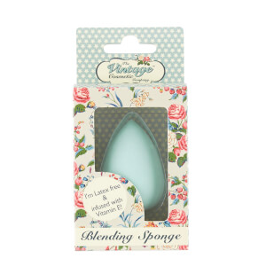 The Vintage Cosmetic Company Blending Sponge Infused with Vitamin E in Blue (Free Gift)
