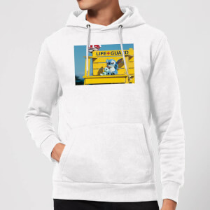 Felpa con cappuccio Disney Lilo And Stitch Life Guard - Bianco