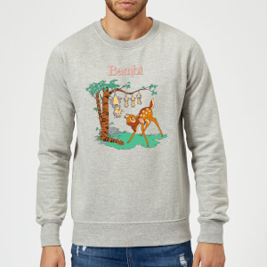 Disney Bambi Tilted Up Sweatshirt - Grey