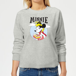 Disney Mickey Mouse Queen Minnie Women's Sweatshirt - Grey