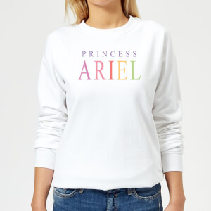 Disney The Little Mermaid Princess Ariel Women's Sweatshirt - White
