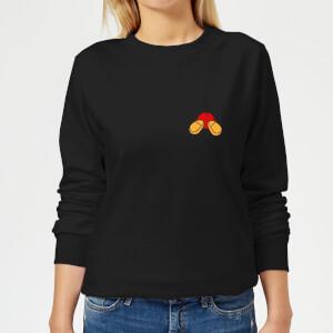 Disney Mickey Mouse Backside Damen Sweatshirt - Schwarz