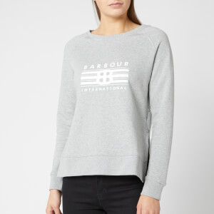 Barbour International Women's Cortina Sweatshirt - Lt Grey Marl
