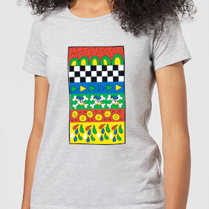 Donald Duck Vintage Pattern Women's T-Shirt - Grey