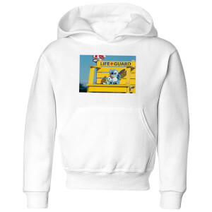 Disney Lilo And Stitch Life Guard Kids' Hoodie - White
