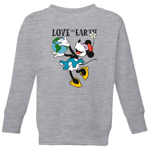 Disney Minnie Mouse Love The Earth Kinder Sweatshirt - Grau