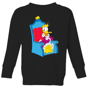 Disney King Donald Kids' Sweatshirt - Black