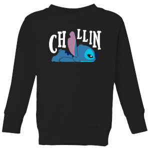 Disney Lilo And Stitch Chillin Kids' Sweatshirt - Black
