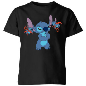 Disney Lilo And Stitch Little Devils Kinder T-Shirt - Schwarz