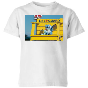 Disney Lilo And Stitch Life Guard Kinder T-Shirt - Weiß