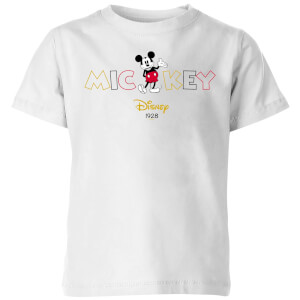 Disney Mickey Mouse Disney Wording Kids' T-Shirt - White