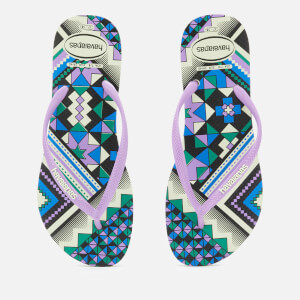 Havaianas Women's Slim Tribal Flip Flops - Apple Green