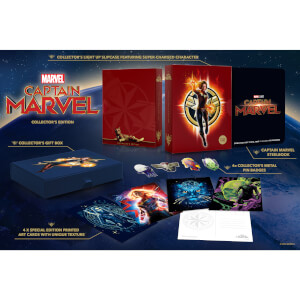 Captain Marvel 3D Zavvi Exclusive Collector's Edition Steelbook (Includes 2D Blu-ray)