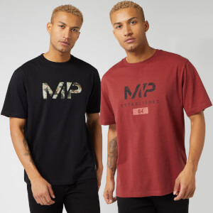 Myprotein Black Friday 2 Pack Graphic T-Shirt - Black/Paprika