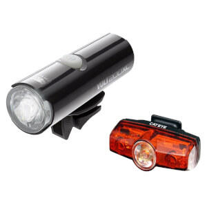 Cateye Volt 200 XC Front and Rapid Mini Rear LED USB Rechargeable Light Set