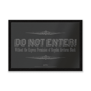 Harry Potter Regulus Black Do Not Enter mat