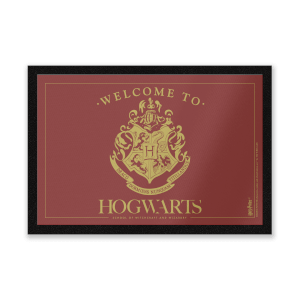Harry Potter Welcome To Hogwarts Entrance Mat
