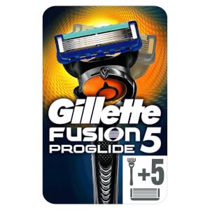 Gillette Fusion5 ProGlide Rasierer + 6 Rasierklingen