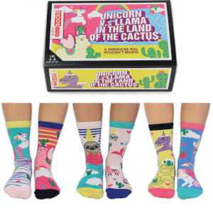 United Oddsocks Women's Unicorn vs Llama Socks Gift Set (UK 4-8)