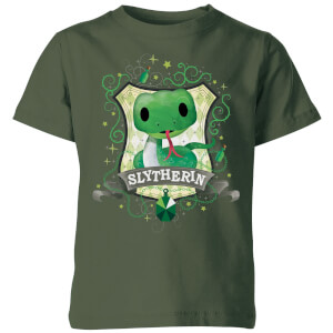 Harry Potter Kids Slytherin Crest Kids' T-Shirt - Forest Green
