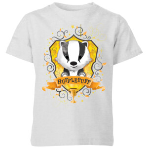 Harry Potter Kids Hufflepuff Crest kinder t-shirt - Grijs