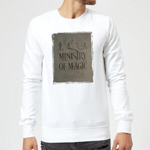 Harry Potter Ministry Of Magic Sweatshirt - White