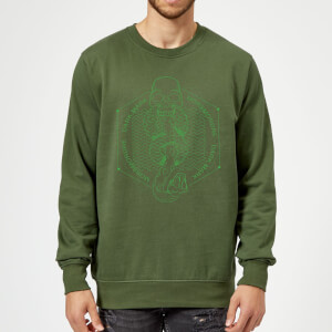 Felpa Harry Potter Morsmordre Dark Mark - Forest Green