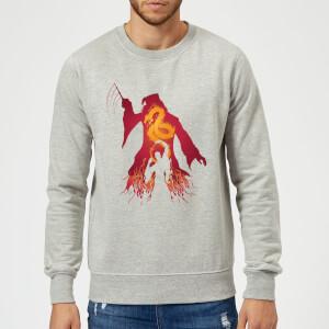 Harry Potter Dumbledore Voldemort Sweatshirt - Grey