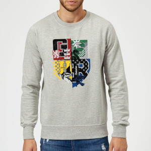 Harry Potter Varsity House Logo Sweatshirt - Grey