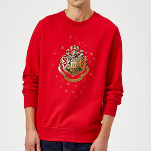 Harry Potter Star Hogwarts Gold Crest Sweatshirt - Red