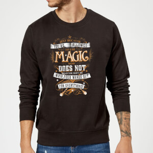 Harry Potter Whip Your Wands Out Sweatshirt - Black
