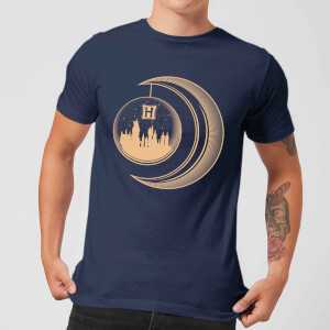 Harry Potter Globe Moon Men's T-Shirt - Navy