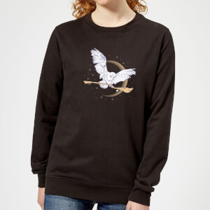 Harry Potter Hedwig Broom Women's Sweatshirt - Black