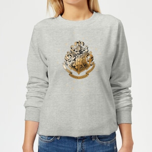 Harry Potter Star Hogwarts Gold Crest Women's Sweatshirt - Grey