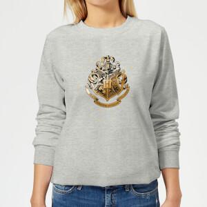 Harry Potter Star Hogwarts Gold Crest Women's Sweatshirt - Grey