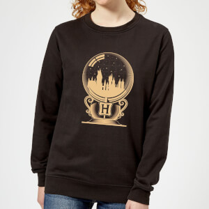 Harry Potter Hogwarts Snowglobe Women's Sweatshirt - Black