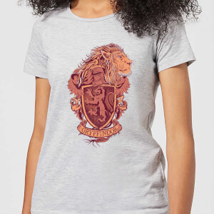 Harry Potter Gryffindor Drawn Crest dames t-shirt - Grijs