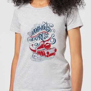 Harry Potter Hogwarts Express Women's T-Shirt - Grey
