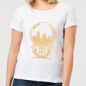 Harry Potter Hogwarts Snowglobe Women's T-Shirt - White