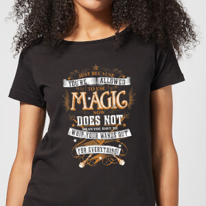 T-Shirt Harry Potter Whip Your Wands Out - Nero - Donna