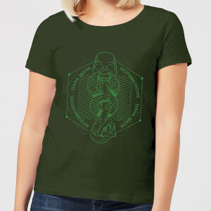 Harry Potter Morsmordre Dark Mark Women's T-Shirt - Forest Green